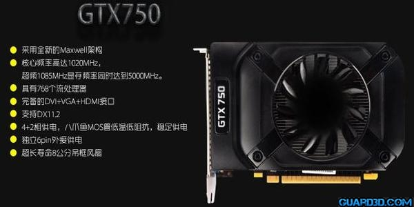 GeForce GTX 750 - 600X300